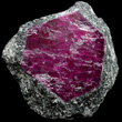 Hexagonal Ruby Crystal in Matrix