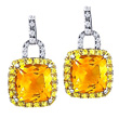 Citrine & Yellow Sapphire Earrings