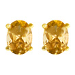 Citrine Vermeil Stud Earrings