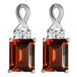 Garnet & White Topaz Earrings