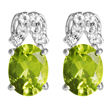 Peridot & White Topaz Earrings