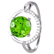 Peridot Ring with Diamonds