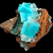 Aurichalcite Inclusions In Calcite Crystals