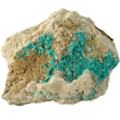 Aurichalcite Crystals on Matrix