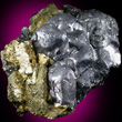 Rounded Galena with Chalcopyrite