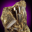 Olive-Brown Striated Vesuvianite